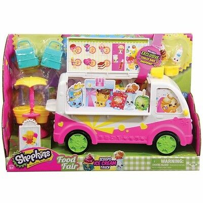 Shopkins Season 3 Scoops Ice Cream Truck Kids Toy Vehicle Velvety Cold Shop New