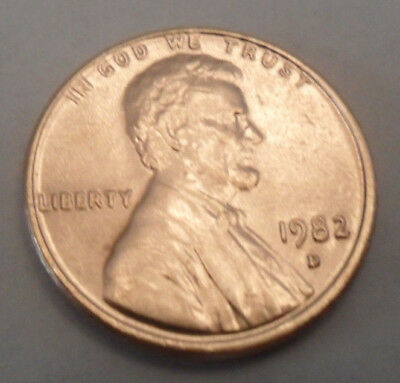 1982 D Lincoln Memorial Cent / Penny  *LARGE DATE*  COPPER  **FREE SHIPPING**
