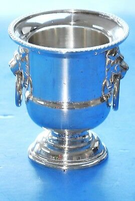 Vintage - Viners of Sheffield - Silver Plated Urn - Lion Head Toothpick Holder