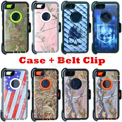 For iPhone 6S Plus 6 Plus Camo Case Cover {Belt Clip fits Otterbox Defender}