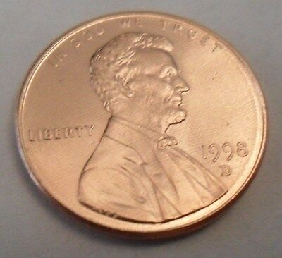 1998 D Lincoln Memorial Cent / Penny  **FREE SHIPPING**
