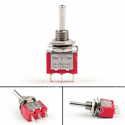 8Pcs MTS-103 Toggle Switch 3 Pin 3 Position (ON)-OFF-(ON) 5A/125VAC 2A/250VAC US