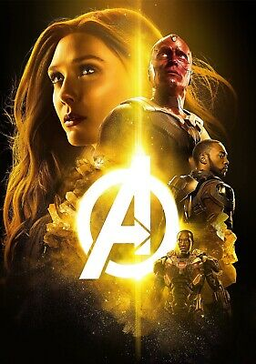 AVENGERS; INFINITY WAR Movie PHOTO Print POSTER Film Art Scarlet Witch Endgame 8