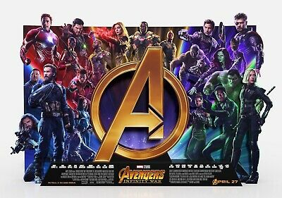 AVENGERS; INFINITY WAR Movie PHOTO Print POSTER Film Art Endgame Thor 014