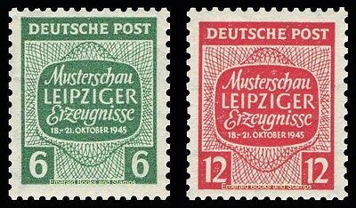 EBS Germany 1945 Soviet Zone West Saxony - Leipzig Samples Show Mi. 124-5Y MNH**
