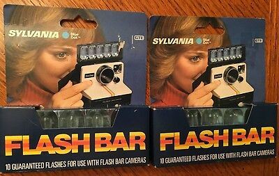 Vintage Sylvania Blue Dot Flash Bar for use with flash bar cameras - 2 boxes