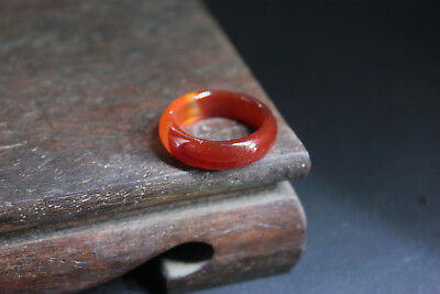 China 100% ice jade Chalcedony handcarved agate ring aj