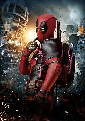 DEADPOOL Movie PHOTO Print POSTER Film Ryan Reynolds Marvel Textless Glossy 001