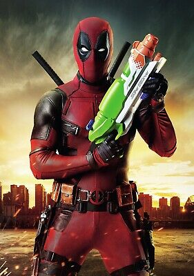 DEADPOOL Movie PHOTO Print POSTER Film Ryan Reynolds Marvel Supersoaker Glossy 9