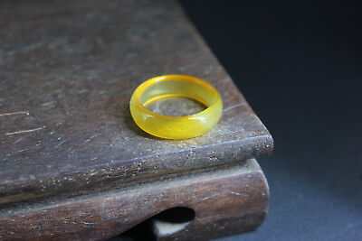 China 100% ice jade Chalcedony handcarved agate ring bf