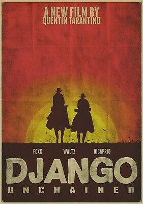 DJANGO UNCHAINED Movie PHOTO Print POSTER Quentin Tarantino Glossy Art Old 003