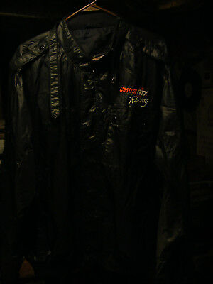 CaStRoL GTX MoToR OiL NaSCaR AuTo RaCiNg MoToRcYcLe BLaCk MVP JaCKeT SiZe LaRgE