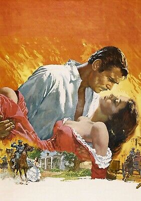 GONE WITH THE WIND Movie PHOTO Print POSTER Classic Film Textless Clark Gable 01