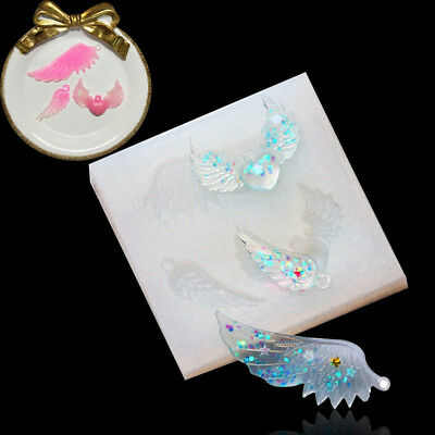 Angel Wings Silicone Pendant Mold Jewelry Resin Necklace Mould Casting Craft DIY