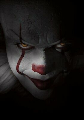 IT Movie PHOTO Print POSTER 2017 Textless Art Pennywise Stephen King Clown 003