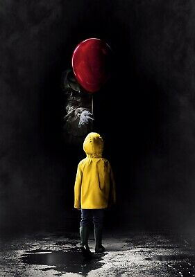 IT Movie PHOTO Print POSTER 2017 Textless Art Pennywise Stephen King Georgie 007