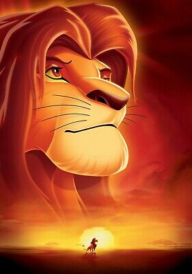 THE LION KING Movie PHOTO Print POSTER Textless Film Art Comedy Family Cartoon 3