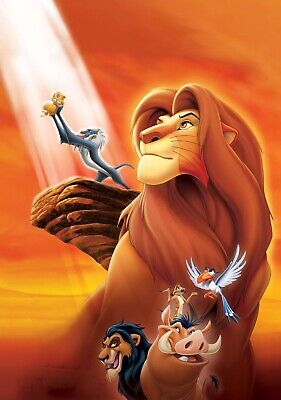 THE LION KING Movie PHOTO Print POSTER Textless Film Art Comedy Family Cartoon 4