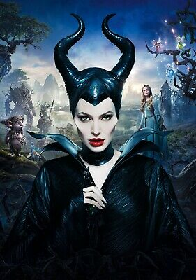 MALEFICENT Movie PHOTO Print POSTER Textless Film Art Angelina Jolie 006