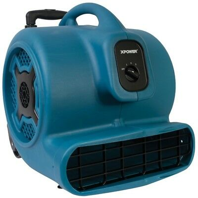 Air Mover 3200 CFM 3/4 HP 3 Speed Carpet Dryer Floor Fan Blower Commercial Blue