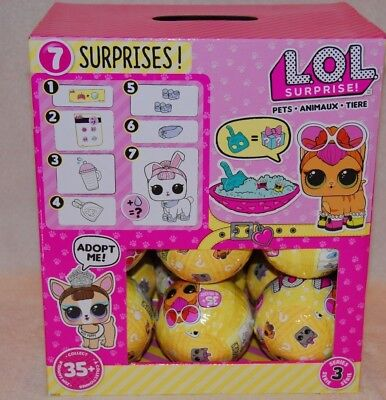LOL Surprise Pets Full Box Case of 18 Balls Series 3 Hard To Find!!