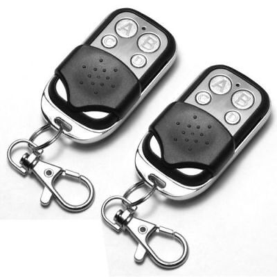 2x Universal Replacement Garage Door Gate Car Cloning Remote Control Key Fob XB