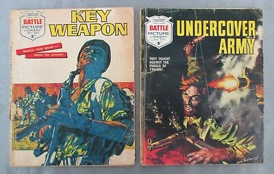 2x Battle Picture Library Vintage Early No. 212, 267 Commando Story War 1965/6