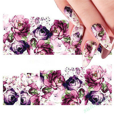 48pcs Flower Nail Art Stickers Decals Water Transfer Manicure Tips Accessories