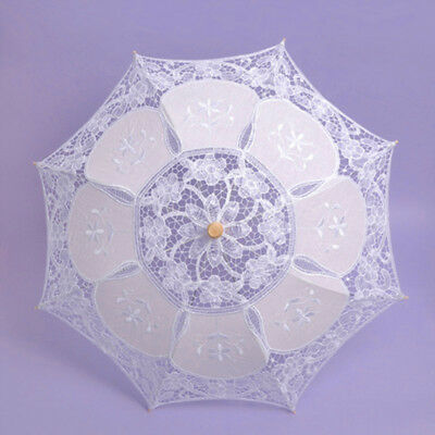 Umbrella Wedding Cloth Art Floral Bridal Summer Parasol Bamboo Bridesmaid