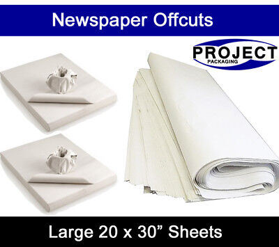 500 Sheets Of WHITE PACKING PAPER - Newspaper Offcuts Chip Shop Paper Grease Prf