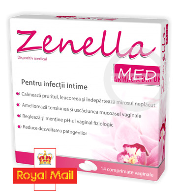 Zenella Med Vaginal Treatment 14 Vaginal Tablets For Bacterial Vaginosis