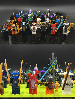 24Pcs Ninjago Lego Building Blocks Toys Minifigures Kids Mini Action Figures Set