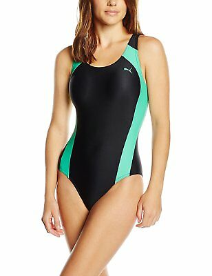 Puma Active Cat Logo Swimsuit Swimwear Swimming Costume Size 10 BNWT Mint Leaf