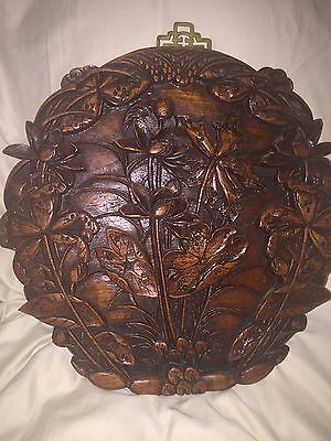 Asian Carving Wooden  Plaque