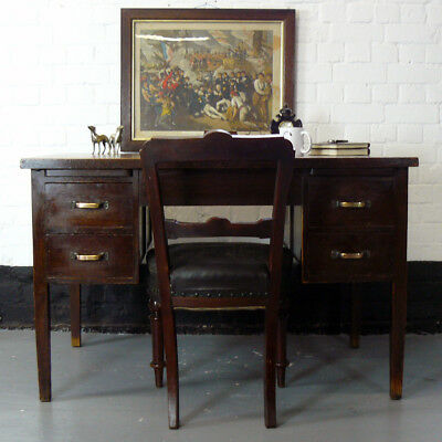 Great Vintage 1930s Oak Desk from the Birmingham Chest Clinic