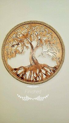 """Tree of Life Round 3D 24"""" Wooden Wall Art - Beautiful Home Decor"""