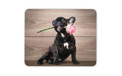 Cute French Bulldog Puppy Mouse Mat Pad - Dog Rose Girls Gift PC Computer #8715