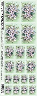 Creation Stickers Pale Blue Flowers For Cards & Craft