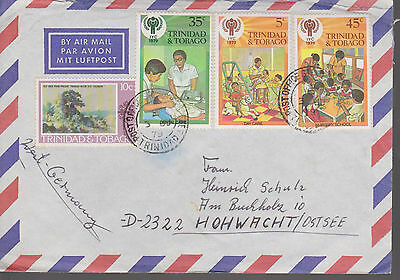 Mixed franked Airmail - Int. Year of the Child 1979, MiF. Int. Jahr des Kindes