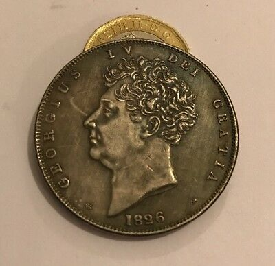 1826 George IV One Crown Silver Plated Restrike  Coin King