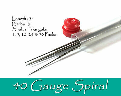 40 Gauge Spiral felting needles.