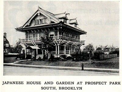 1903 ad Vintage Japanese House and Garden at Prospect Park  South Brooklyn NY