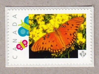 GULF TRITILLARY BUTTERFLY, Picture Postage MNH stamp Canada 2016 [p16/04-2bf6/6]
