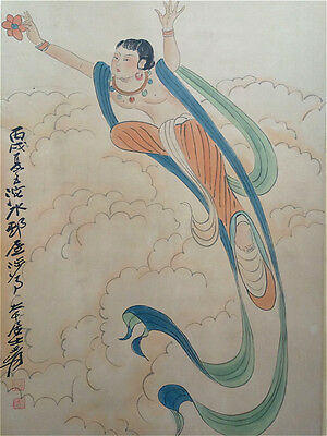 Excellent Chinese 100% Hand Painting & Scroll  By Zhang Daqian 张大千 WED88