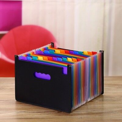 Upgrated 12 Pockets Expanding File Folder Works Accordion A4 Document Organizer