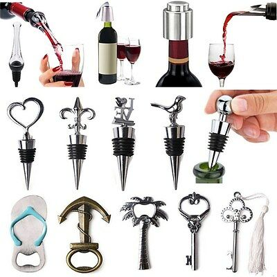 Stainless Steel Vacuum Sealed Red Wine Bottle Stopper Reusable Plug Favors Gifts
