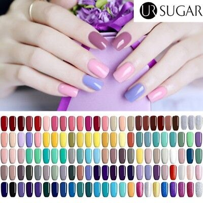 UV Gel Nail Polish Soak Off Pure Colors Gel Varnish Manicure Purple Pink Glitter