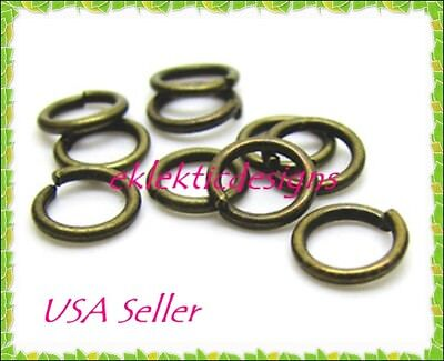 12mm 25pcs Antique Brass Bronze Jump Rings Jewelry Findings Open Split Earrings