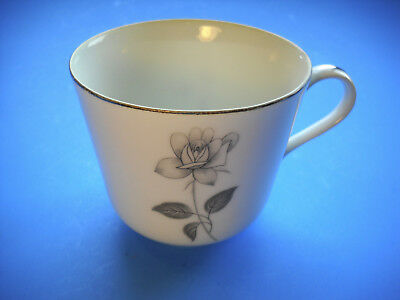 Queens Royal Fine China Gray Rose COFFEE CUP Japan - 2 Available