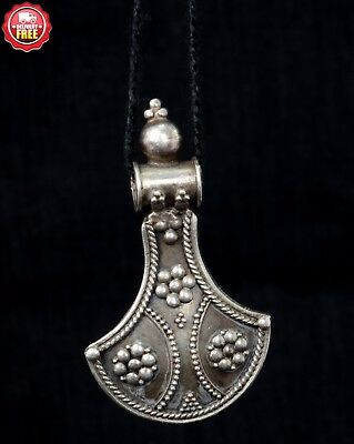 Vintage Style 92.5 Silver Art Beautiful Pendant Women's Gift. G10-18